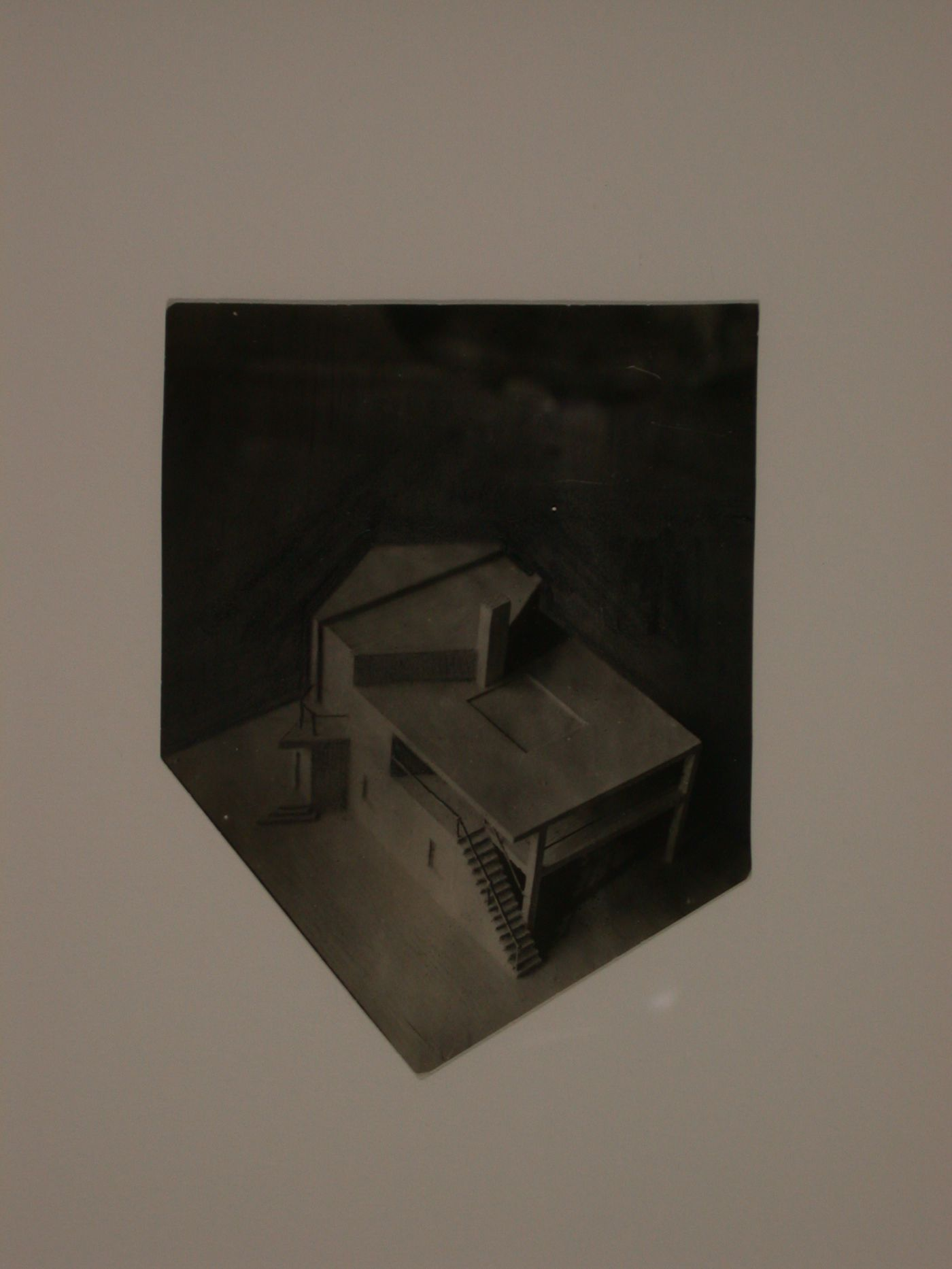Photograph of the model for an unidentified building
