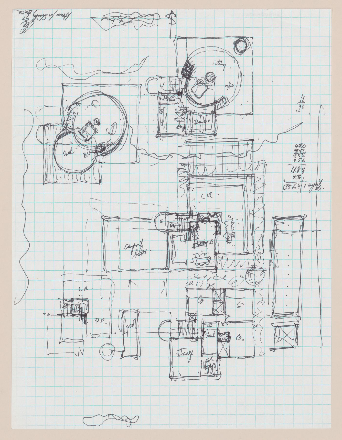 Sketch plans for Shirley MacLaine House, De Baca County, New Mexico