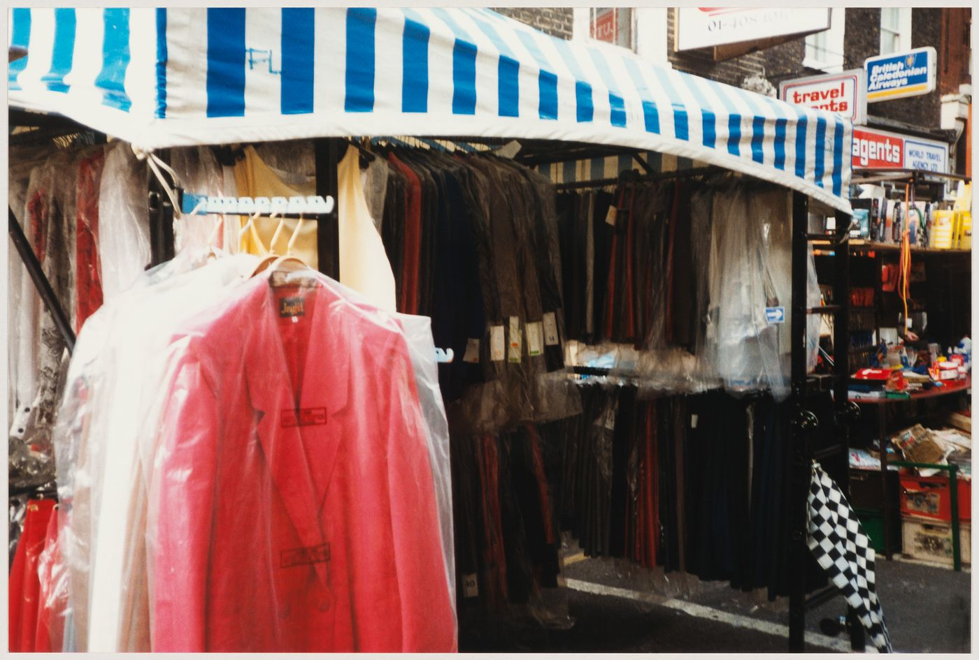 View of a clothing stall