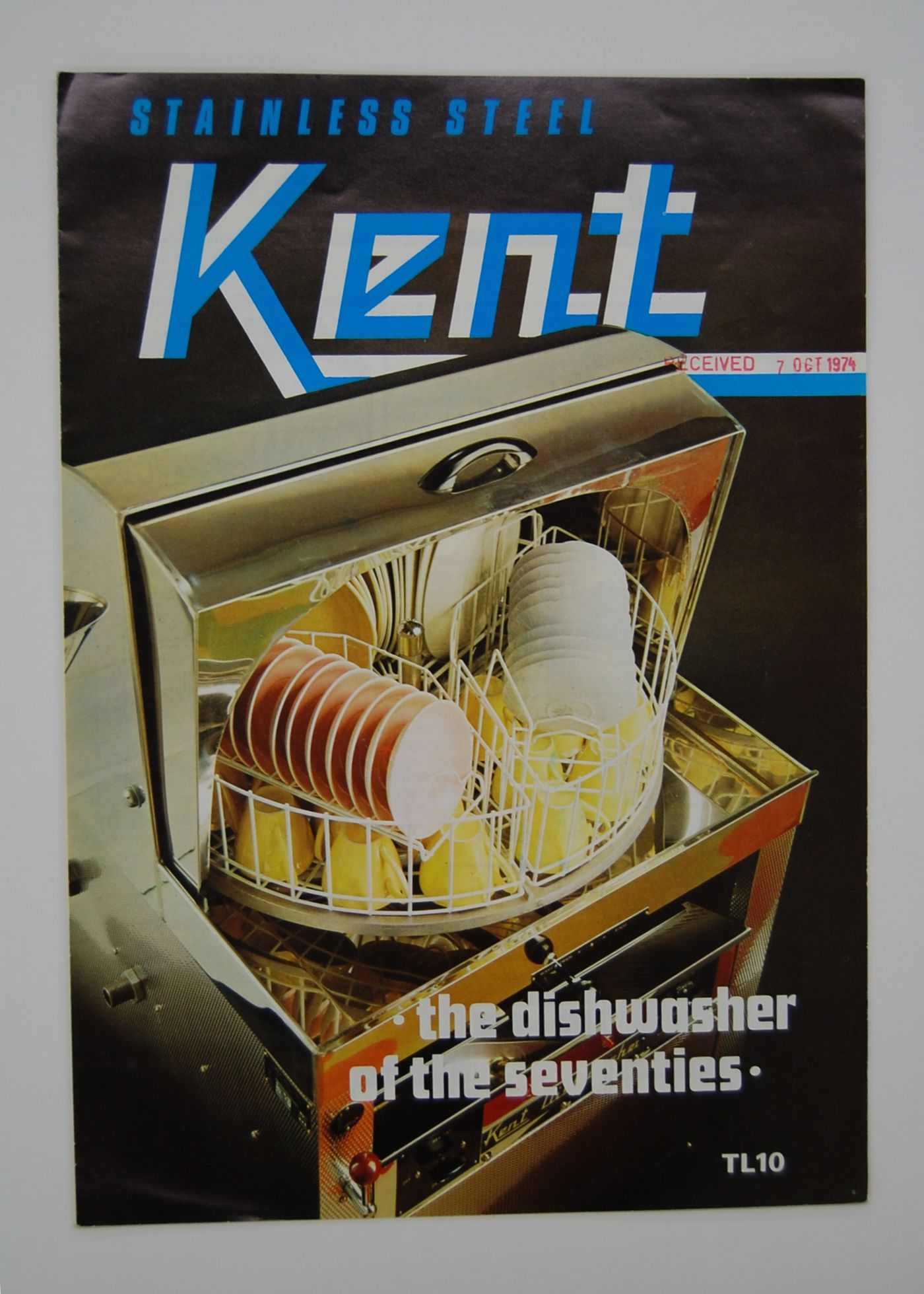 Stainless steel Kent : the dishwasher of the seventies