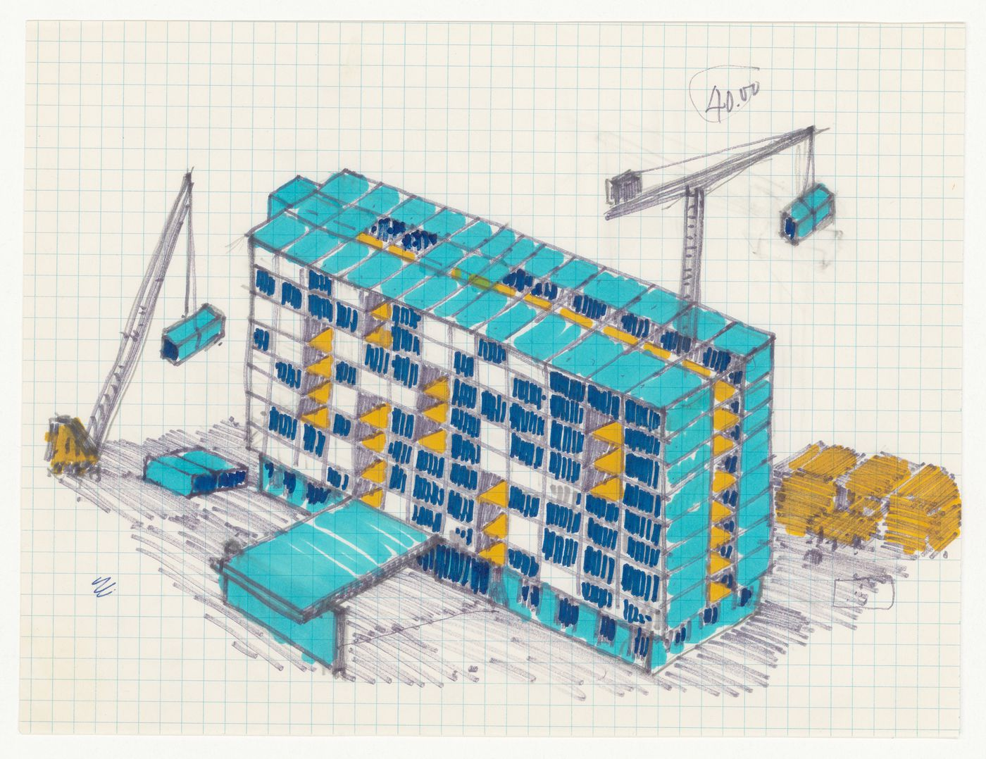Axonometric for Northern Airlift