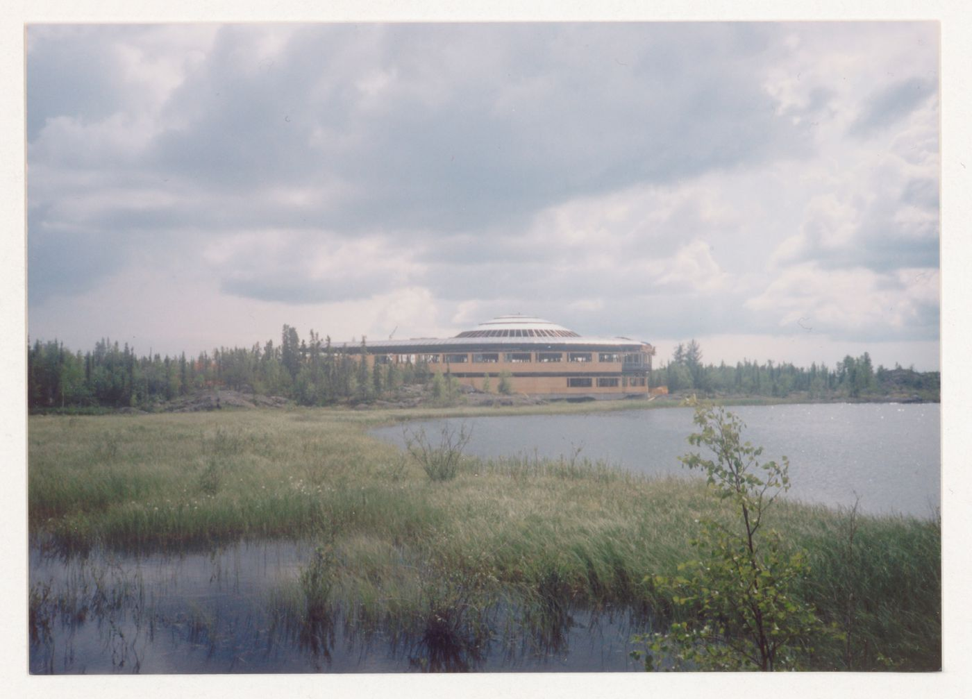 View of landscape regeneration, Northwest Territories Legislative Assembly Building, Yellowknife, Northwest Territories