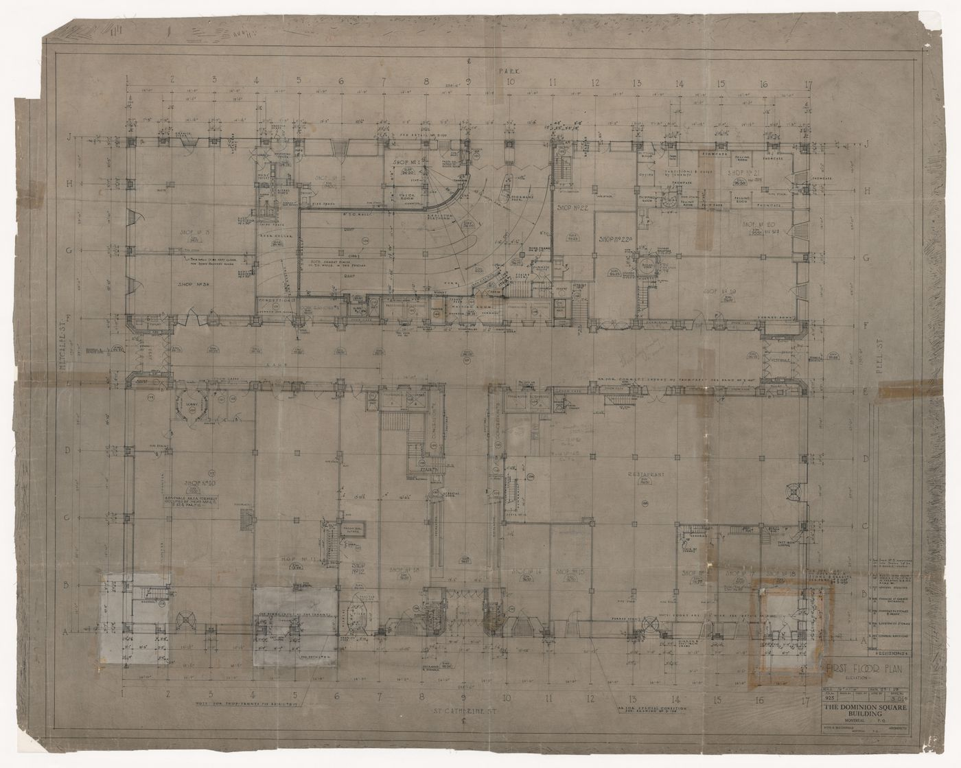 First floor plan for Dominion Square Building, Montreal, Québec