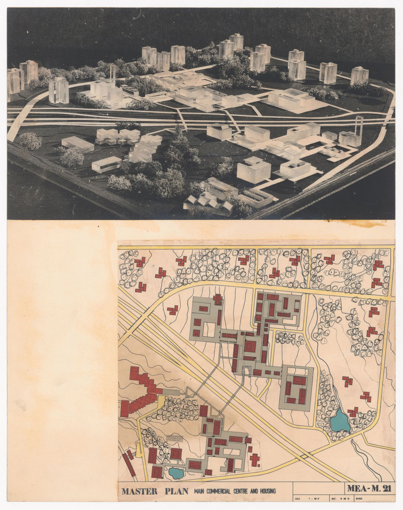Presentation view of model and site plan for Meadowvale, Mississauga, Ontario, Canada