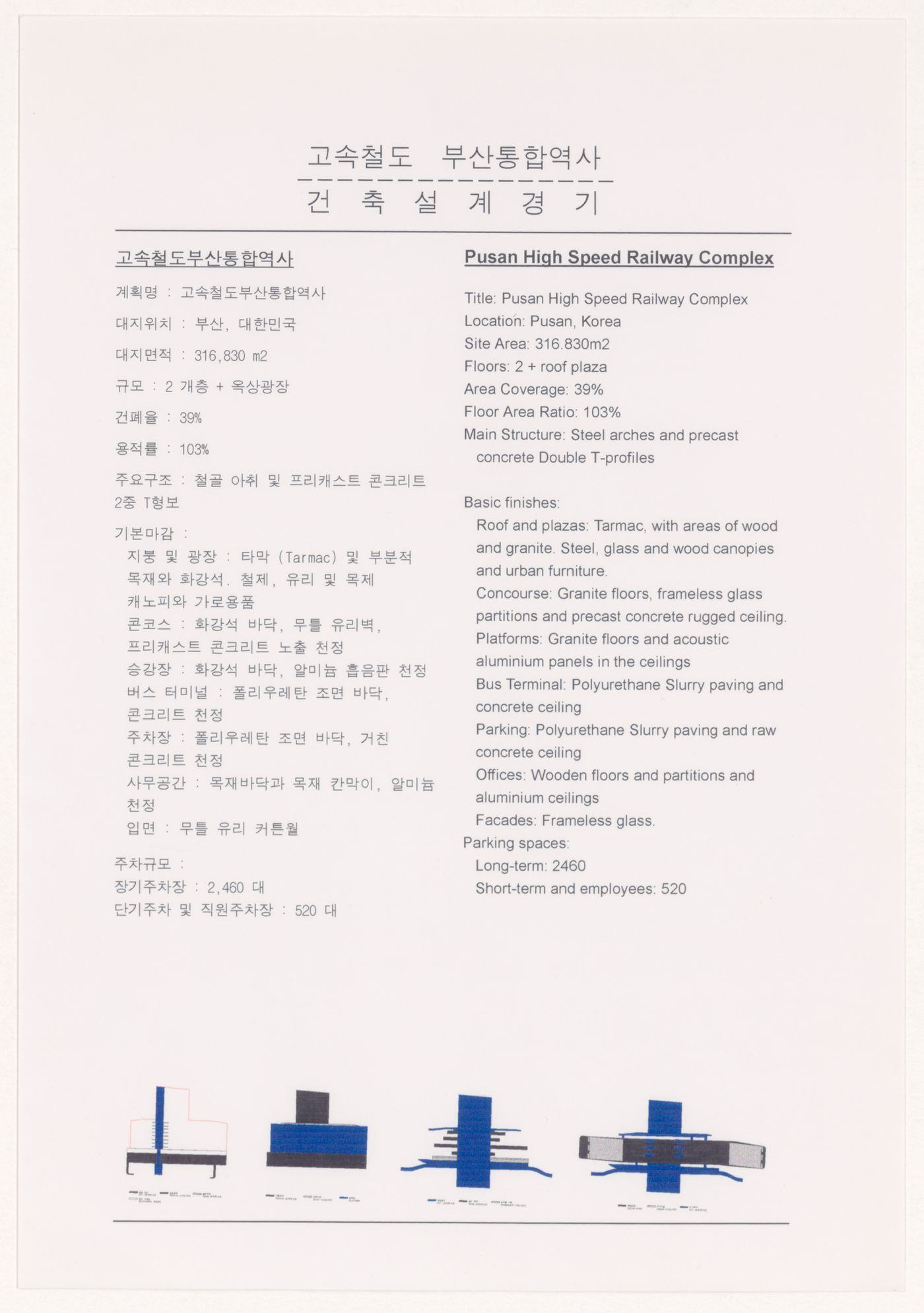 Explanatory text for High-Speed Railway Complex, Busan, South Korea