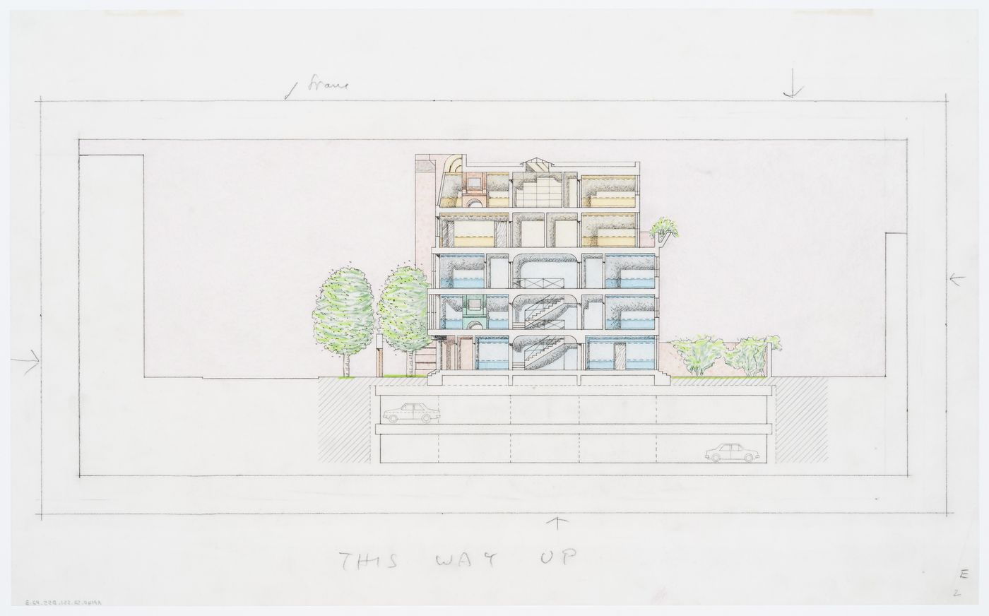 Eleven Townhouses Competition, New York, New York: section