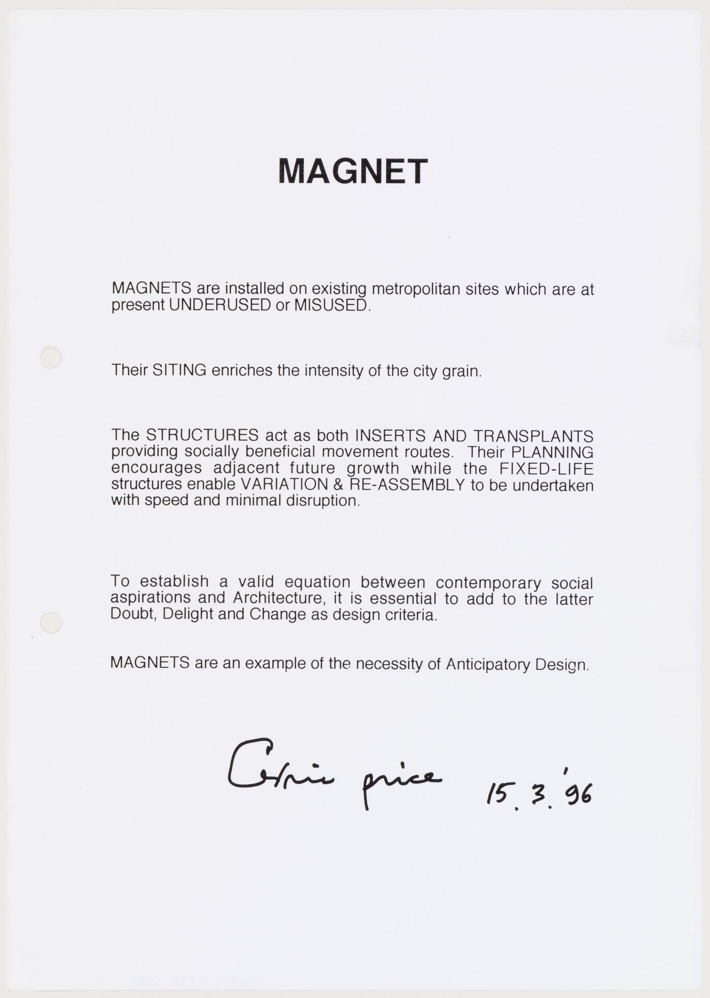 "Text about ""Magnet"" project"