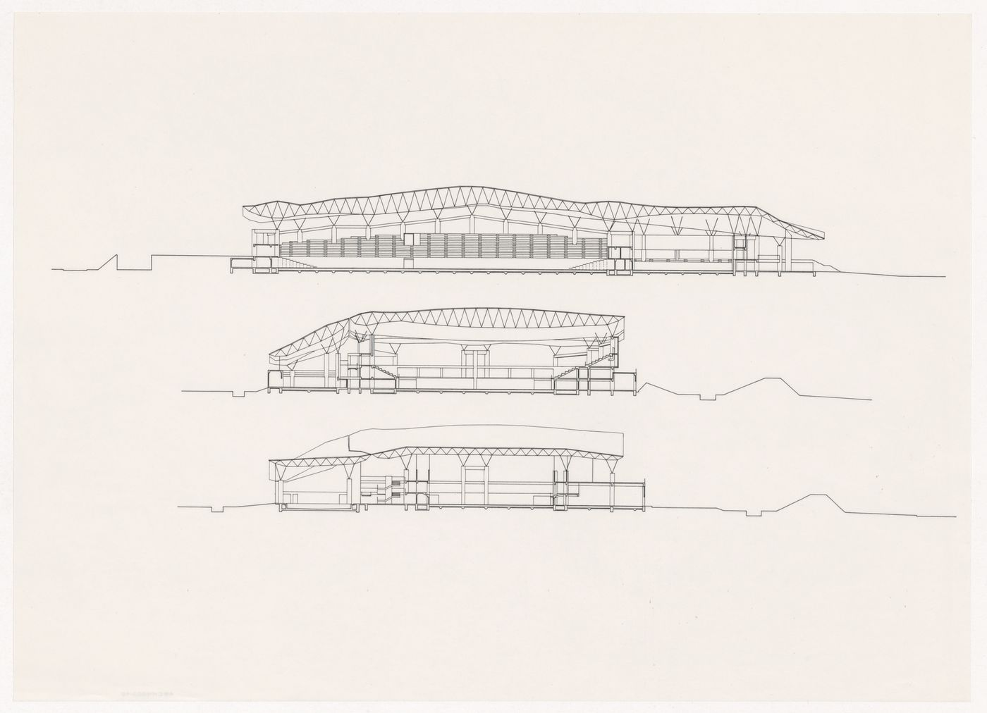Sections for Odawara Municipal Sports Complex, Odawara, Japan