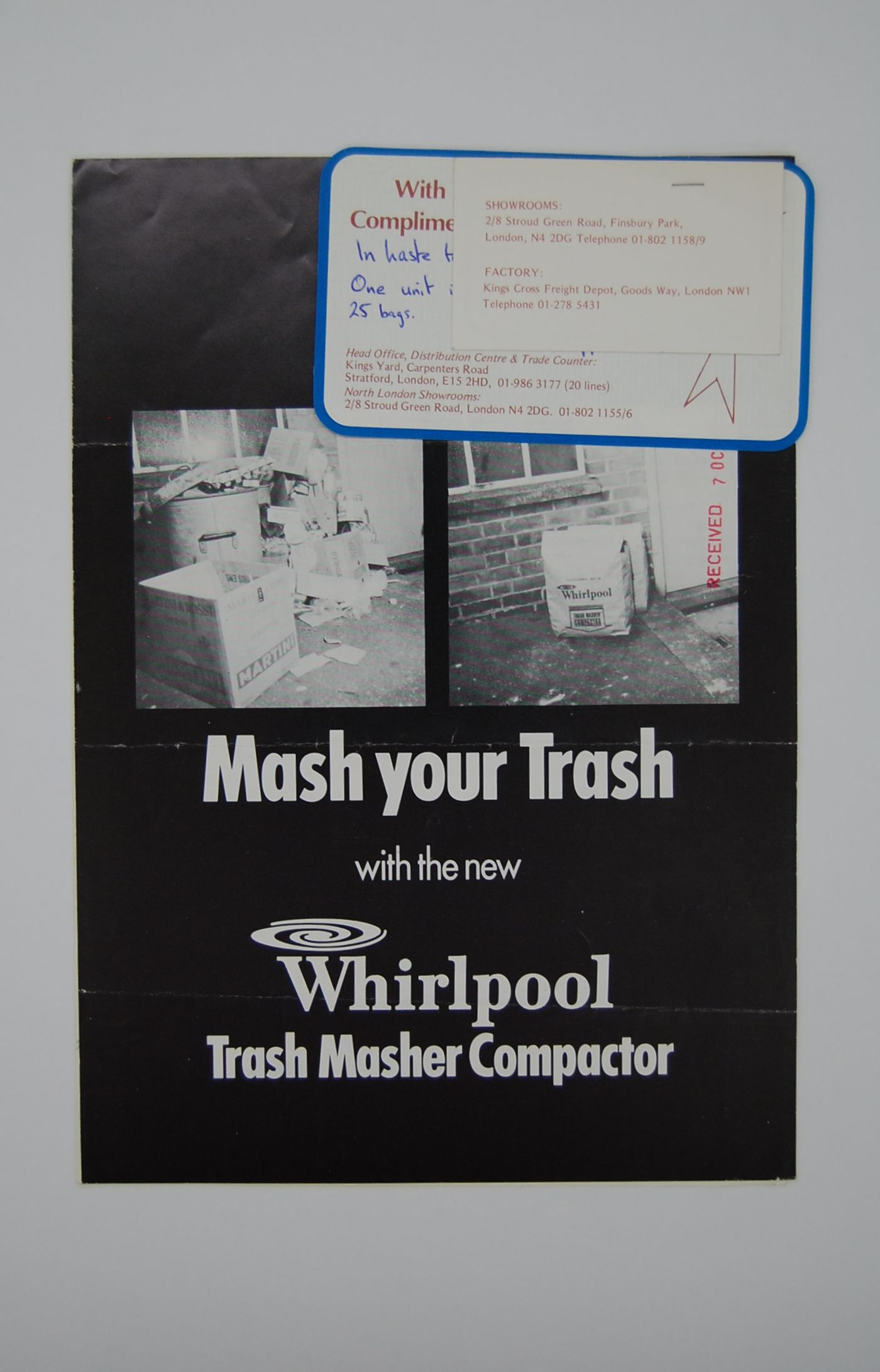 Mash your trash with the new Whirlpool trash masher compacter