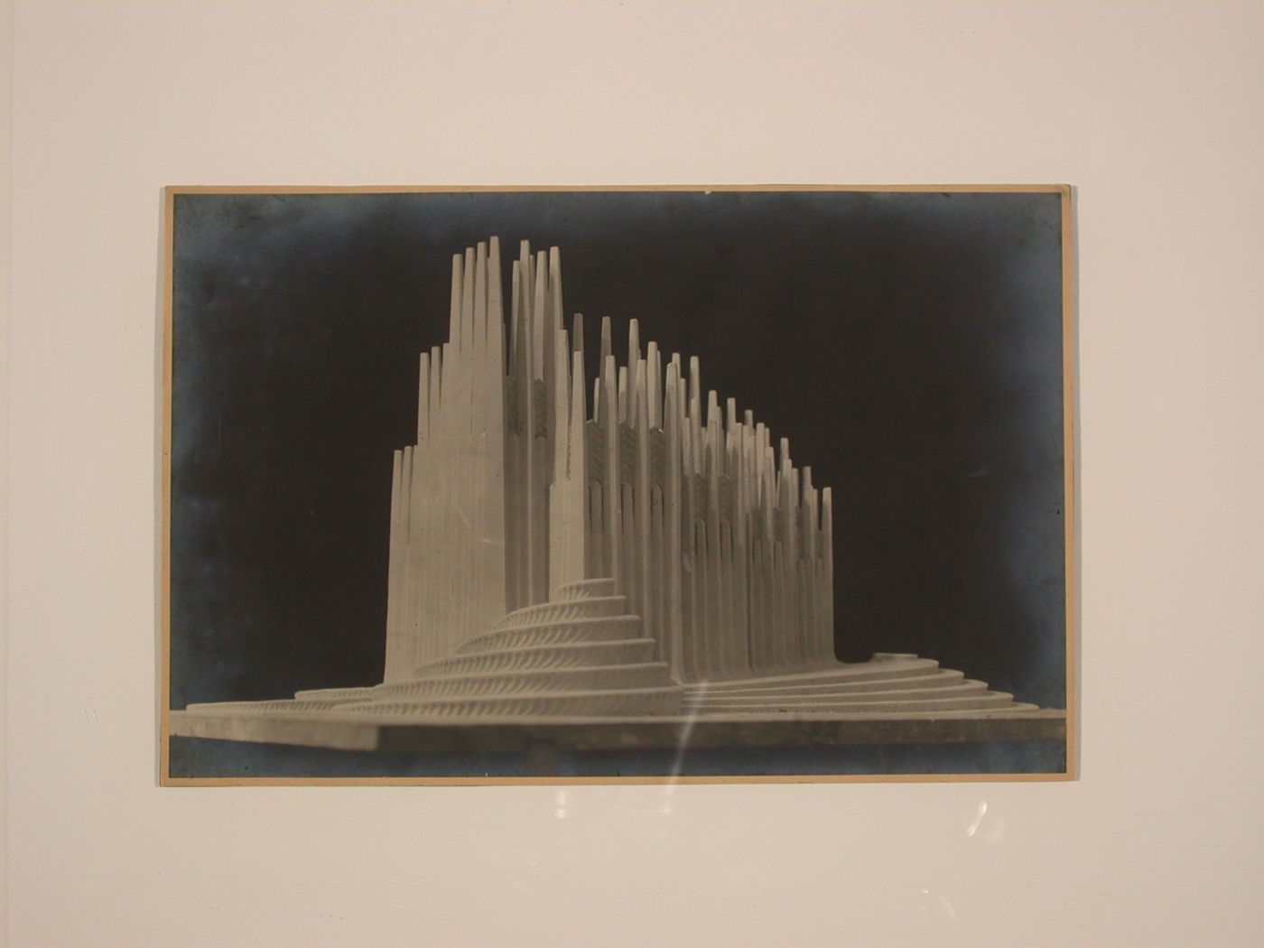 Photograph of a model for the Concert Hall project by Hans Luckhardt