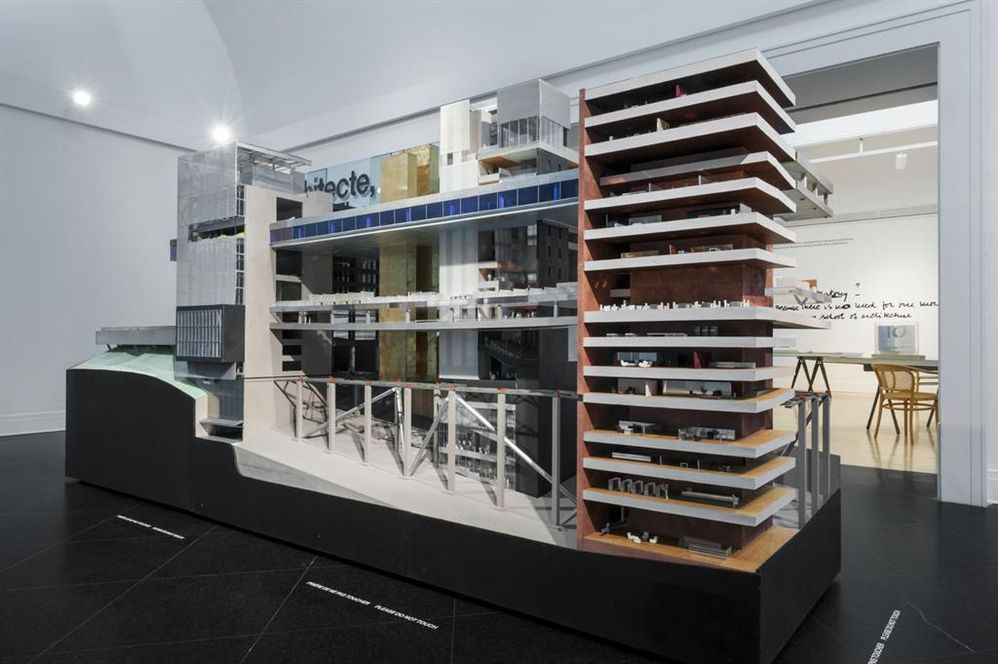 1:50 model for the Universal Headquarters Building, Universal City, Los Angeles County, California