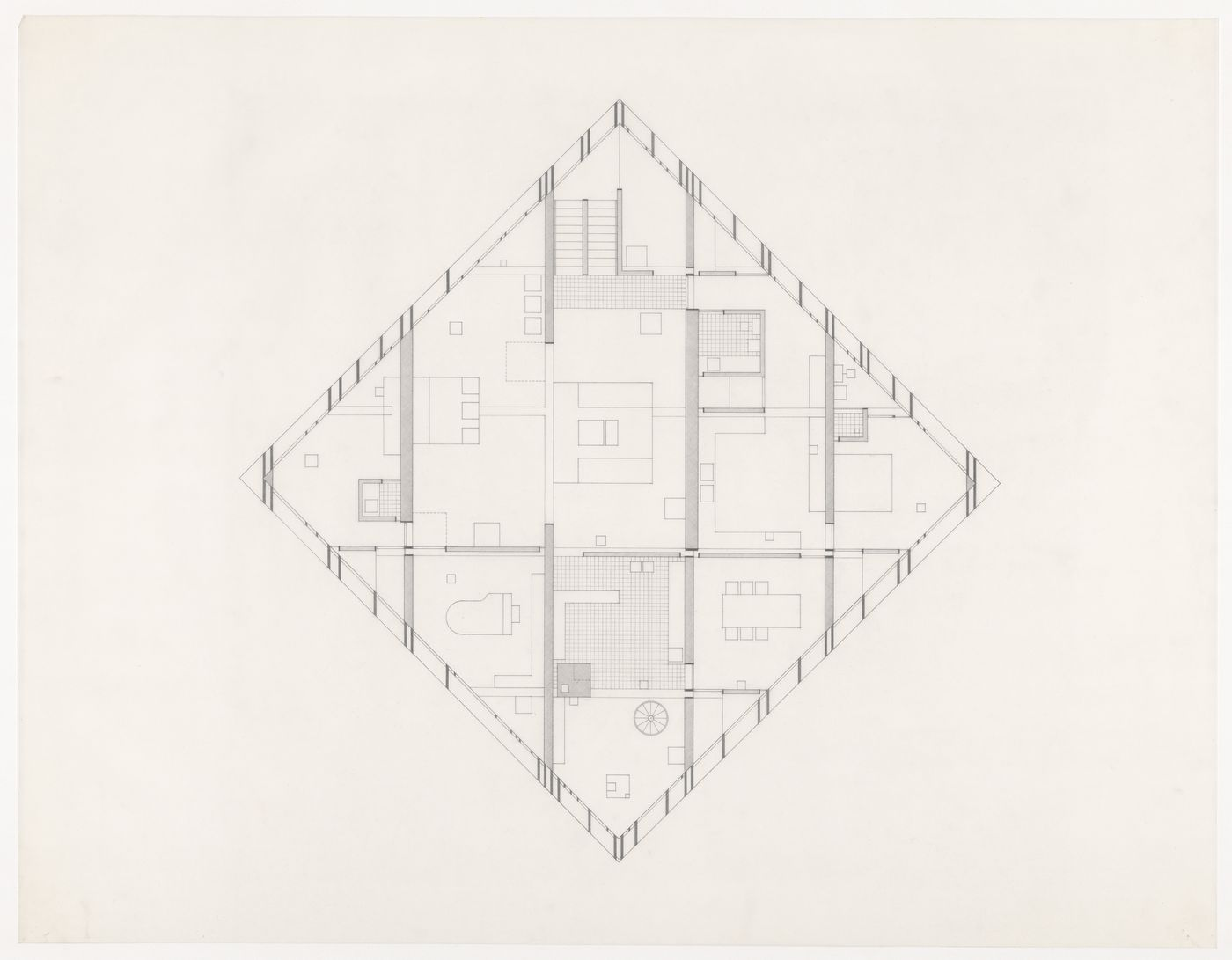 Plan for Diamond House B