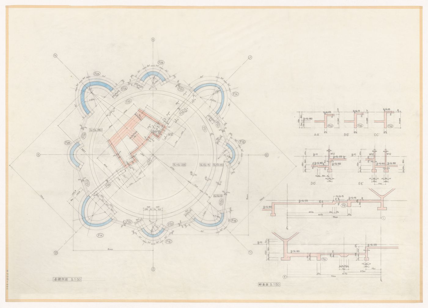 Plan and details for Naiju Community Center and Nursery School, Fukuoka Prefecture, Japan