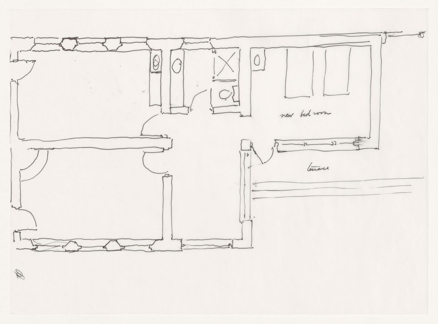 Sketch plan for Shirley MacLaine House, De Baca County, New Mexico