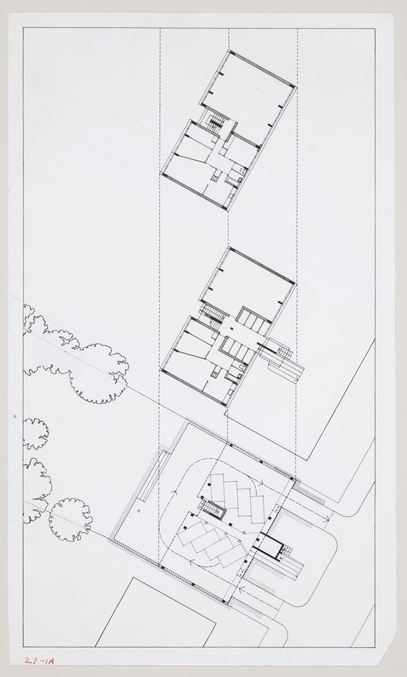 Flats at Camden Town, London, England: photograph of plans