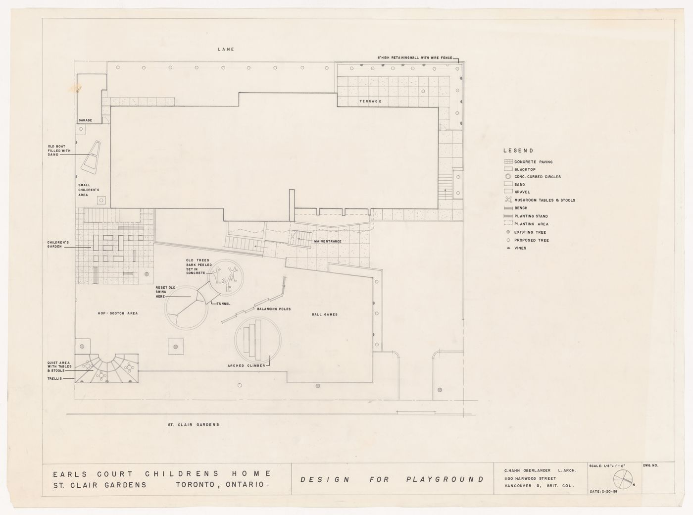 Plan for Earl's Court Children's Home, St. Clair Gardens, Vancouver, British Columbia