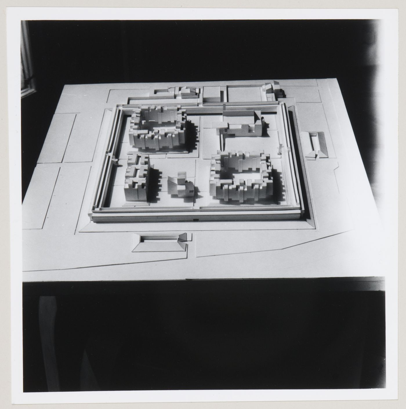 Churchill College, University of Cambridge, Cambridge, England: view of model