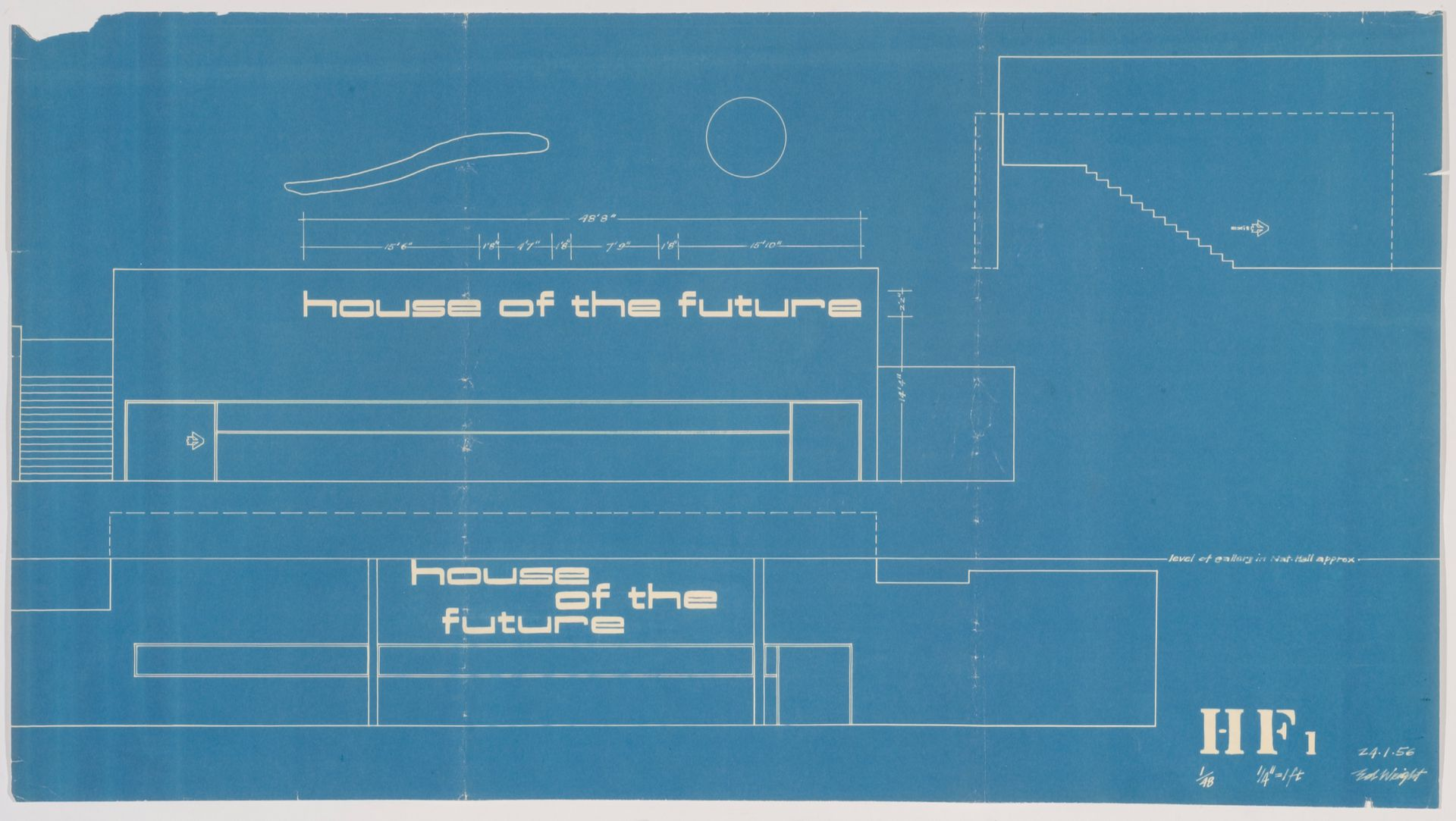 House Plans With Dimensions 1956 House Of The Future