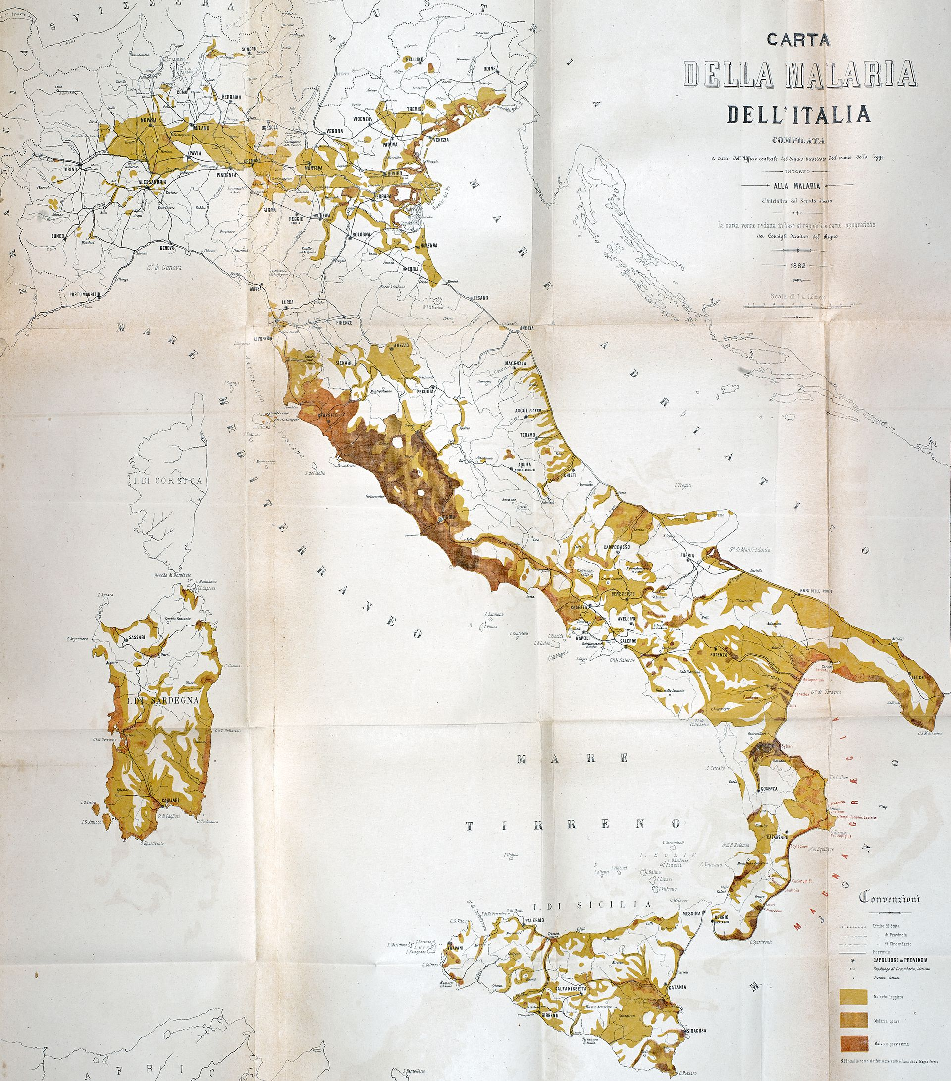 Clear Map Of Italy.Mapping Malaria In Italy